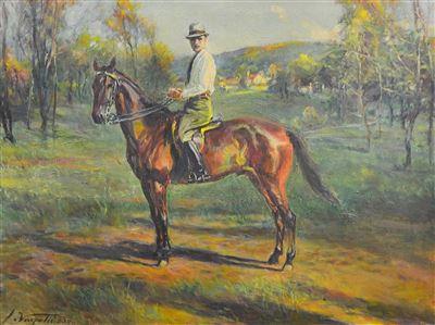 Ivan Vavpotič - Portret moškega na konju